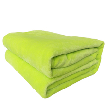 Hot Sell Flannel Coral Fleece Blanket Solid Color Baby Kids Adult Single/Double Bed Twin Full Queen Size Blanket On The Bed