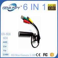 Miniature Size 6 IN 1 1080P Waterproof Bullet Mini Camera Support AHD/TVI/CVI/CVBS/HD-SDI/EX-SDI For Bank Army Prison