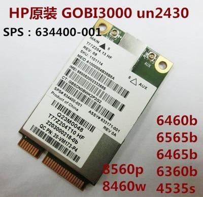 JINYUSHI For 90% NEW MC8355 SPS 634400-001 UN2430 Mini Pcie 3G HSDPA  UMTS  Module For HP EliteBook 8470W 8570W 8770P 5330 2760P