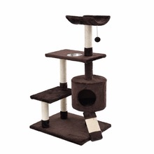 FR Fast Delivery Cat Toys Tree Condo Scratcher Climbing Furniture For Kitten House Hammock with Scratching Post and Toys