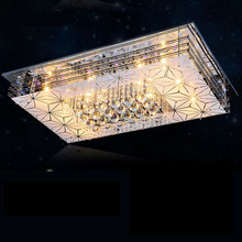 Rectangular modern minimalist living room lamp led ceiling lamp crystal chandelier bedroom flat lighting fixtures restaurant modern minimalist fashion crystal living room lamp designer luxury atmospheric bedroom study ceiling lamp led lighting fixture