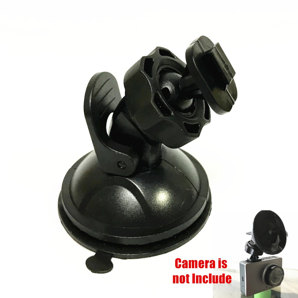 original Xiaomi Yi Dvr Suction Cup Bracket Genuine Sucker for Yi Dash Cam Suction cup holder of XIAOMI YI Car Dvr Compact Camera car suction cup for dash cam holder with 6 types adapter 360 degree angle car mount for driving dvr camera camcorder gps acti