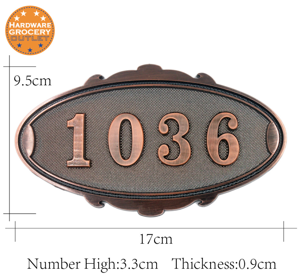 House Number; simple style Door Sign; Gate Number;Custom-made;3 to 4 numbers 3D Digital;Apartment,House,Villa door plate