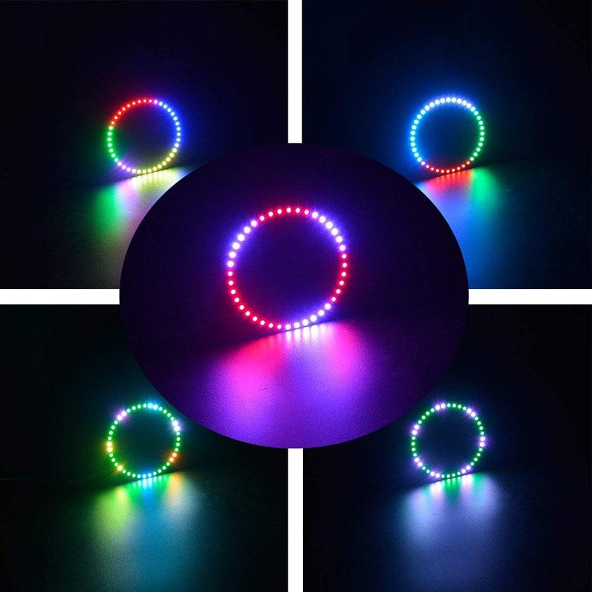 1 pièces adressable WS2812B SK6812 16/35/45 LED s Pixel anneau Modules DC5V RGB couleur LED anneau lampe lumière pour arduino kit de bricolage 6
