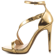 Gold/Silver Sandal Simple Style Women Shoes Made-to-order 2016 Large Size US14 Female High Heels Women Party Sandals Designer