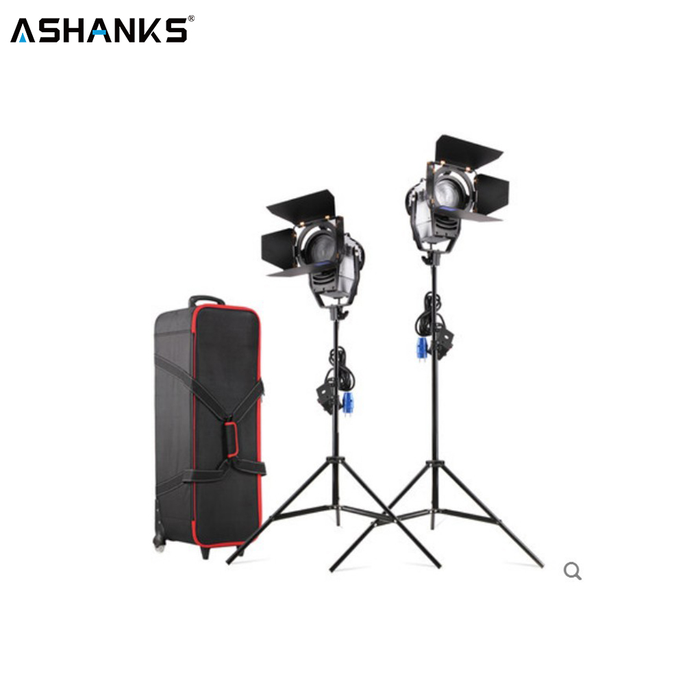 ASHANKS 100W LED Fresnel spotlight with Light Stand and Carry bag Dimmer 3200 5500K LED Lamp