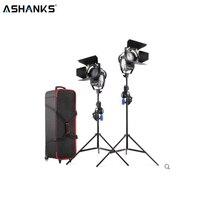 ASHANKS 100W LED Fresnel spotlight with Light Stand and Carry bag Dimmer 3200/5500K LED Lamp for Camara Fotografica Video Light