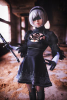 Japan Hot Game NieR Automata Cosplay A2cos 2B Cos Costume Black Dress Free Shipping