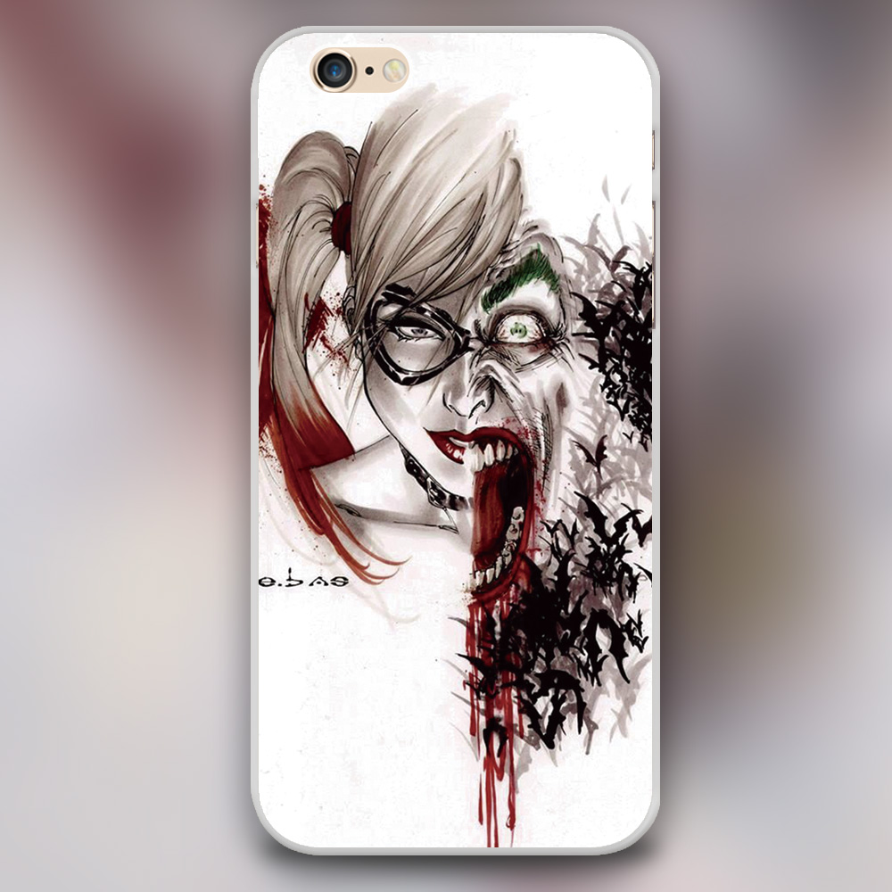 Psychotic Love Joker And Harley Quinn Cover case for iphone 4 4s 5 5s 5c 6 6s plus samsung galaxy S3 S4 mini S5 S6 Note 2 3 4