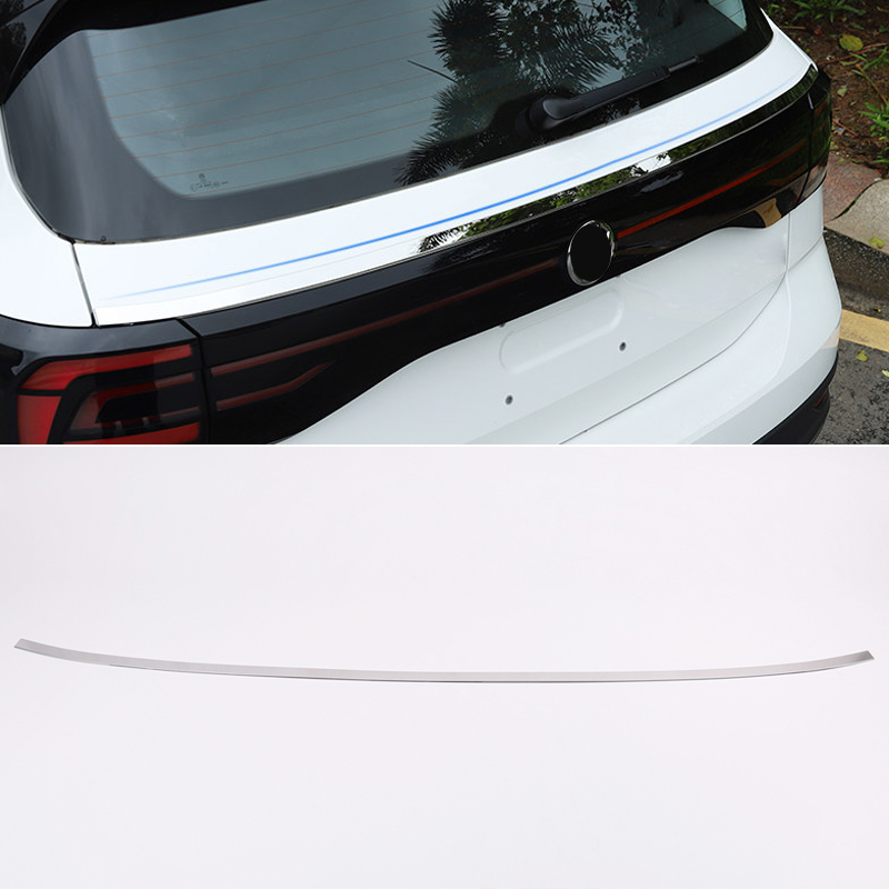 Auto Car Exterior Tail Rear Door Trunk Lid Cover Trim Car-styling Accessories For Volkswagen T-Cross 2019 2020