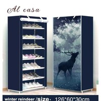 Shoe Cabinet Shoes Rack dust&Moisture proof Storage Large Capacity Home Furniture DIY Simple 7 Layers