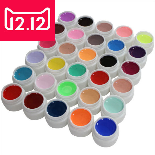 36 colores / set Pure Color uv gel Nail Art Tips Shiny Cover - Arte de uñas - foto 1