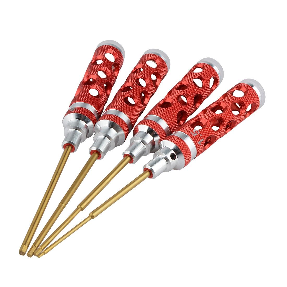 4 pièces outils d'aération durables/tournevis hexagonal/Kit de tournevis pour hélicoptère RC 1.5/2.0/2.5/3.0 M outils