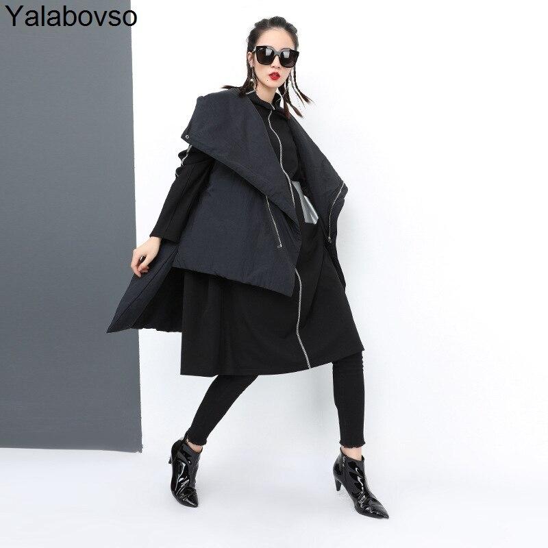 f1ea61b74e5cd Hiver -Noir-gilet-femmes-2018-casual-solide-col-montant-fermeture-clair-Coton-tissu-femelle-wasit- manteau.jpg