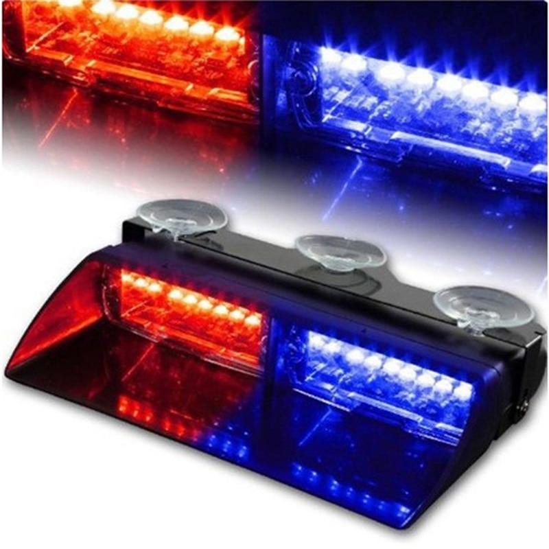 16 LEDs 12V Car Truck Emergency Warning Flasher Dash Strobe Warning Light Day Running Flash Led Police Lights