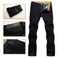 El multimillonario de alta costura italiana confort jean de los hombres 2016 nuevo estilo de moda puro algodón de alta calidad bordado carta envío gratis