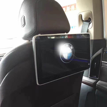 Car Android Headrest Monitor Rear Seat Entertainment System For BMW Auto TV Screen 2PCS tv in the car monitors auto rear seat entertainment for after 2013 bmw headrest monitor 11 6 inch android 7 1 system 2pcs
