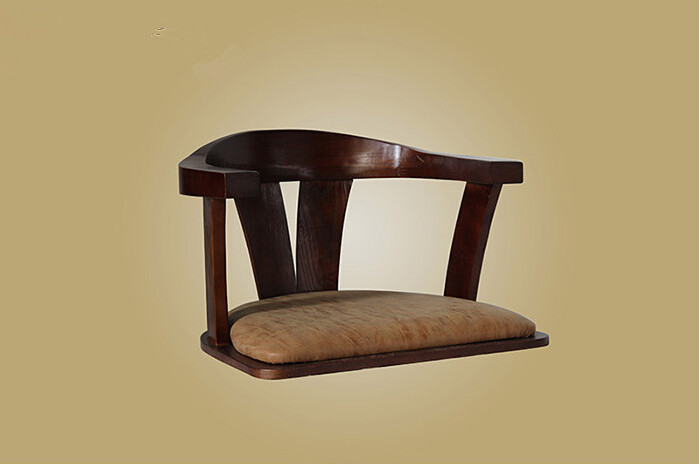 Wooden Chair No Legs Made From Solid Bent Wood Ash Japanese Style Floor Legless Chair Living Room Furniture Carved Armchair japanese style armchair folding furniture legs height adjustable lazy arm chair for elderly home living room foldable chair