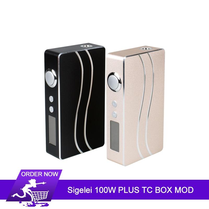 Original Sigelei 100 W PLUS boîte TC MOD Max 100 W pas 18650 boîte de batterie Mod énorme puissance Vape boîte Mod VS fuchsia 213 PLUS