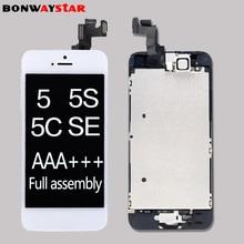 Một phần gốc Full hội Màn Hình LCD cho iPhone5/5C/5/5S/SE MÀN HÌNH Hiển Thị LCD Bộ Số Hóa Màn Hình Cảm Ứng thay Thế đầy đủ nhà mông Camera