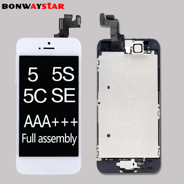 part original Full assembly LCD Screen for iPhone5/5C/5S/SE LCD Display Touch Screen Digitizer full Replacement home butt Camera