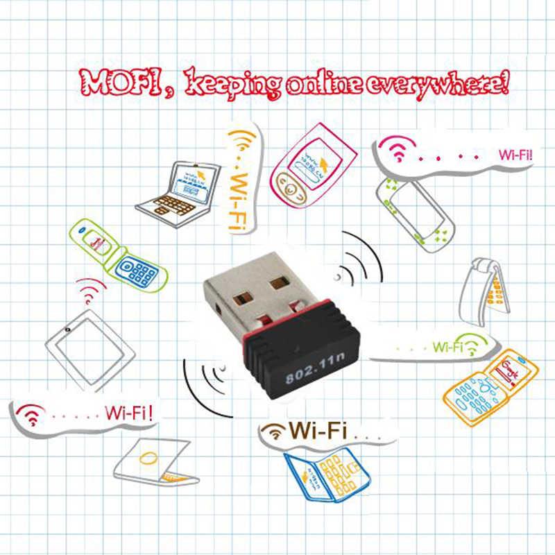 Kebidu nuevo 150 Mbps 150 M Mini tarjeta de red USB inalámbrico WiFi LAN adaptador 802.11n/g/b Wi-Fi adaptadores de WiFi antena para ordenador