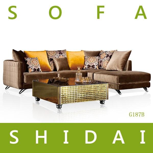 G187B Dubai Sofa Furniture, Sofa Set New Designs 2015