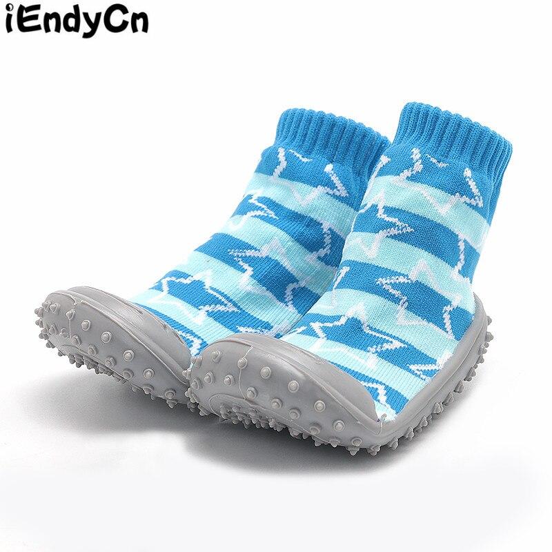 Kūdikių grindų kojinės su guma Kūdikių avalynė Merginos berniukai Kojinės medvilnės neslystančios gumos padengtos vaikiškos minkštosios apatinės pirštinės YD456