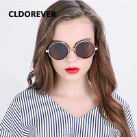 Fashion 2017 Polarized Sunglasses Women Men Vintage Steampunk Sunglass Cool Metal Gear Sun Glasses Round Mirror