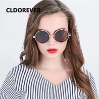 Fashion 2017 Polarized Sunglasses Women Men Vintage Steampunk Sunglass Cool Metal Gear Sun Glasses Round Mirror