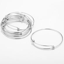 30 pcs stal nierdzewna regulowana bransoletka z drutu bransoletka kabel rozbudowy bransoletki Charm bransoletki dla kobiet prezent biżuteria DIY