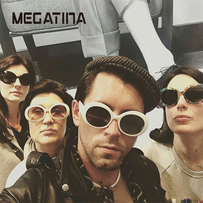 Megatina ovális napszemüveg nők 2018 márka tervező magas - Ruházati kiegészítők
