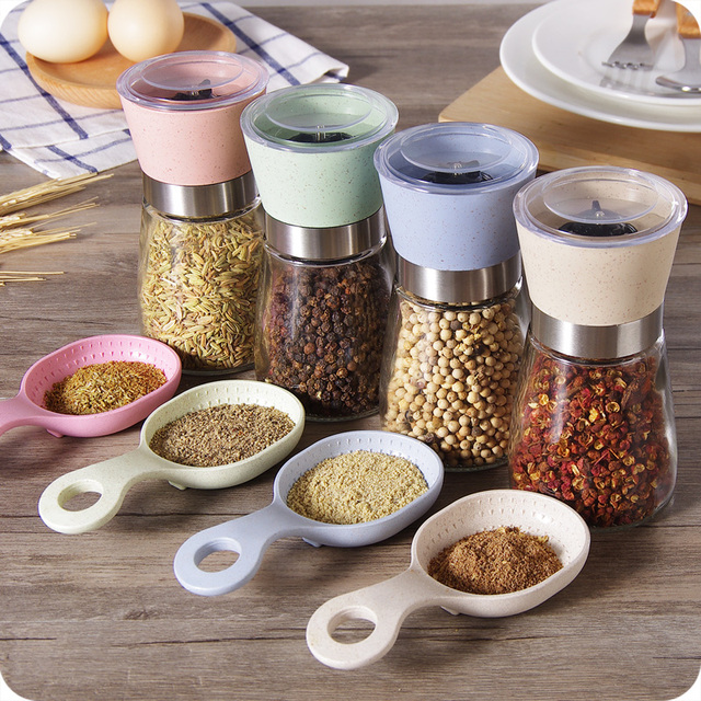 3 size oak wood kitchenware best adjustable manual pepper mill.