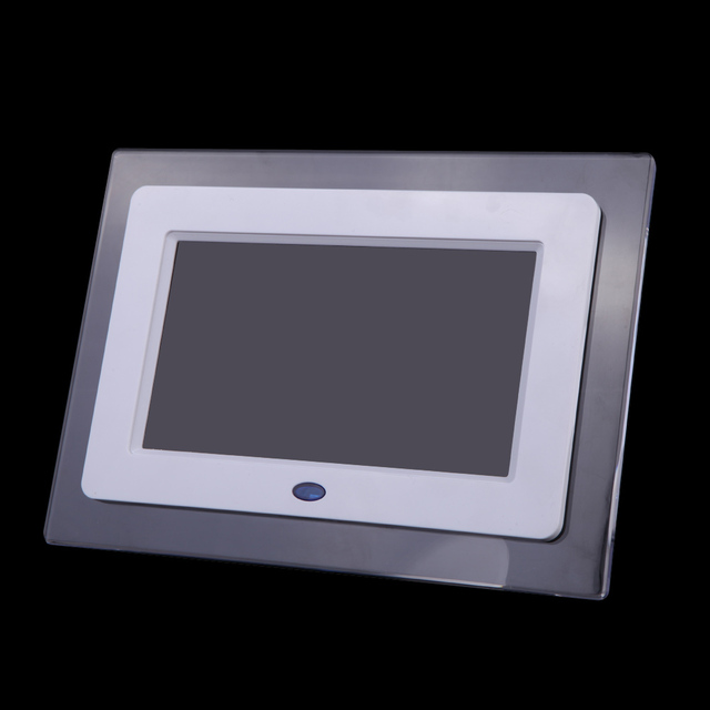White 7 Inch Hd Tft Lcd Digital Photo Frame With Slideshow