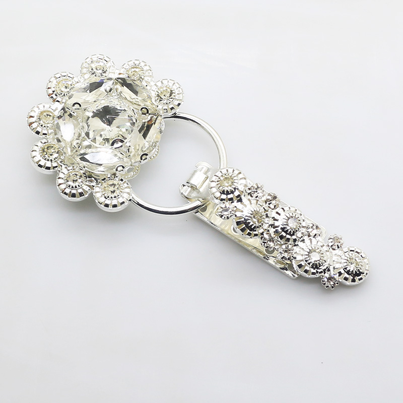 Floral Rhinestone Crystal Duckbill Buckle Fasteners Clasps for Clothes Decor