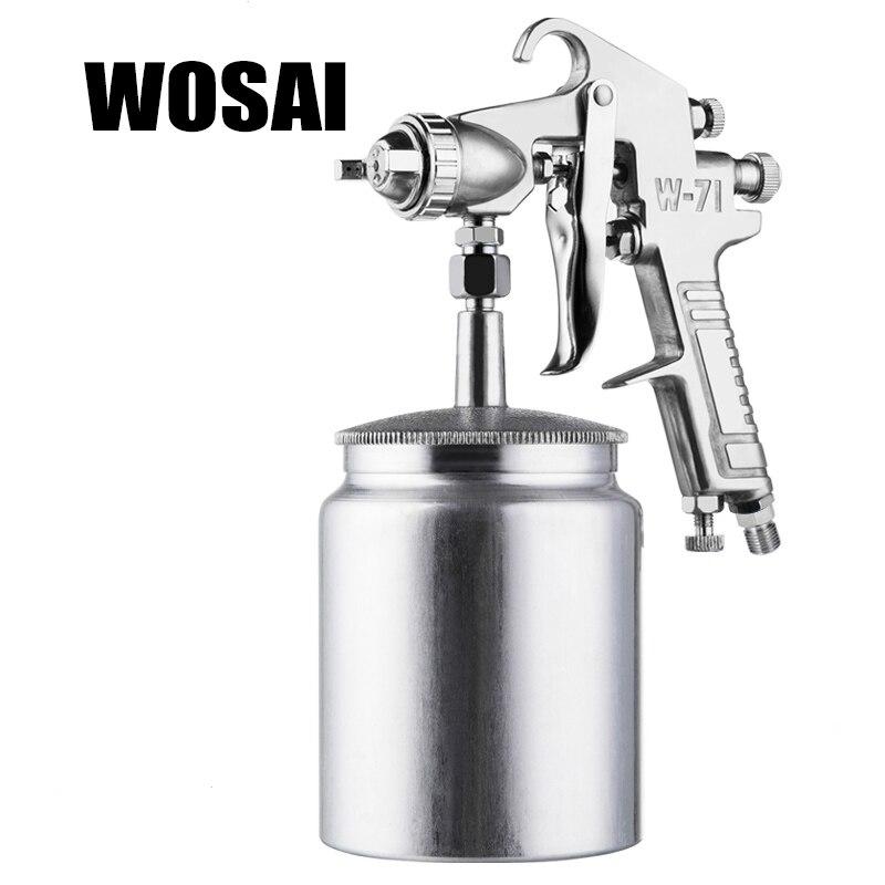 WOSAI 600 ml Professione Pneumatica Pistola A Spruzzo del Airbrush Spruzzatore Lega di Pittura Atomizzatore Strumento Con Tramoggia Per La Pittura Auto W71