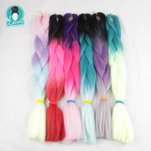 Luxury For Braing 5pcs 100g/pc 24 Yaki Straight Two Three 4 Tone Ombre Kanekalon Braiding Hair Synthetic Crochet Jumbo Braids