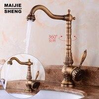 Antique Brass Bathroom Faucet New Flower Antique Basin Faucet Sink Tap Antique Brushed Bronze Faucet Bathroom