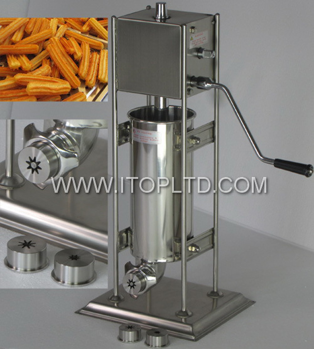 Manual Churros Extrusion Maker Machine Spanish Fritters Chocolate Crullers Donuts Deep-Fried Cinnamon Strips Extrude Shape Tool