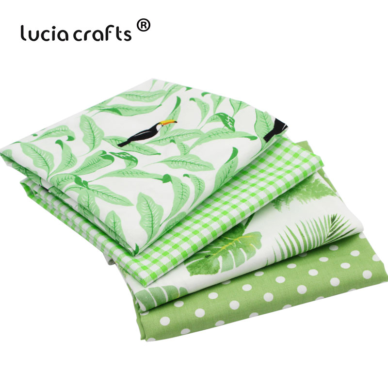 Apparel Sewing & Fabric Ywzatgits 100*160cm Cotton Printed Fabric Green Lattice Sewing Textile Quilting Patchwork Diy Sewing Accessories 026029109