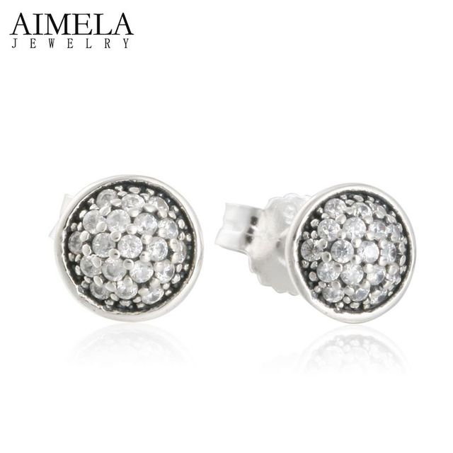 Luxury Dazzling Droplets AAA CZ Diamond Pave Stud Earrings For Women 925 Sterling Silver Brincos Wedding Engagement Fine Jewelry