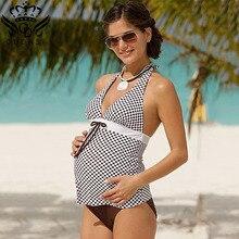 bdd71b9080 Maternity Swimwear women Tankini Set Pregnant Women Swimsuit Two Pieces  Plus Size dot Bathing Suit women