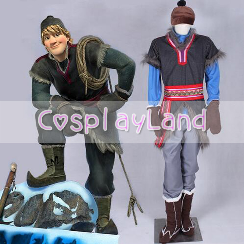 Halloween Costumes for Men Adult  Snow Grow Elsa Anna Kristoff Cosplay Costume Cartoon Cosplay Kristoff Costume
