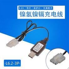 9.6 V L6.2 3P del Caricatore del USB Cavo di Ricarica Protetto IC Per Ni Cd/Ni Mh Batteria RC giocattoli auto Robot batteria di ricambio Caricatore Parti