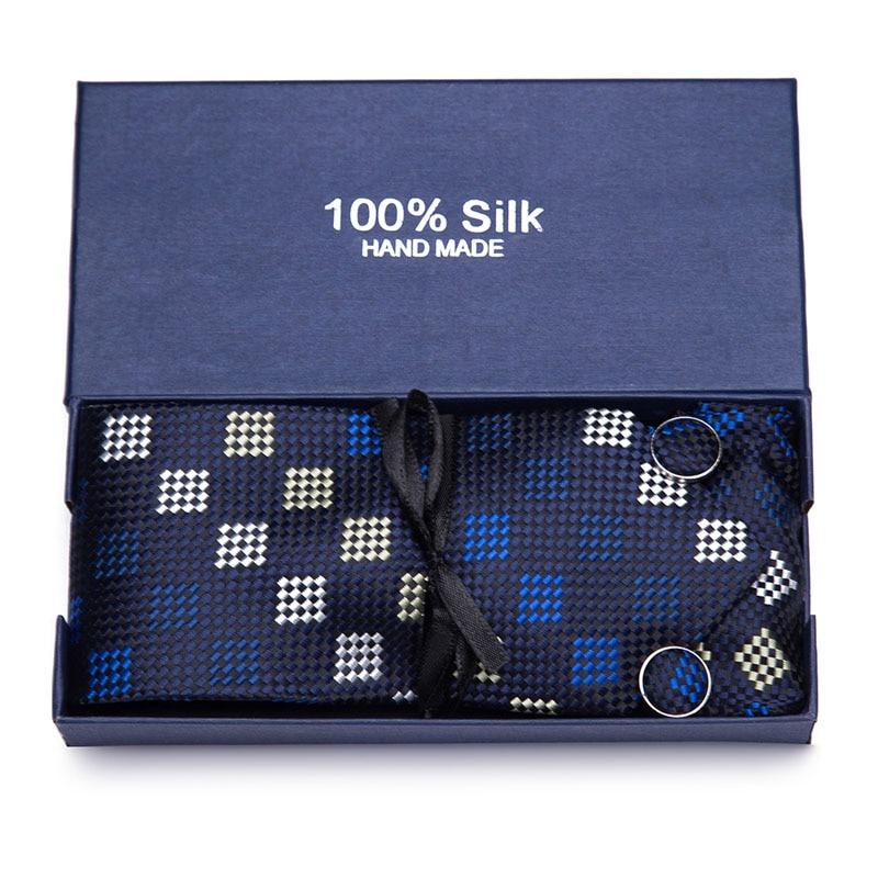 2019 New Arrival Mens Ties Geometric Red Wedding Neckties 7.5cm Necktie Business Silk For Men Tie Gift box packing