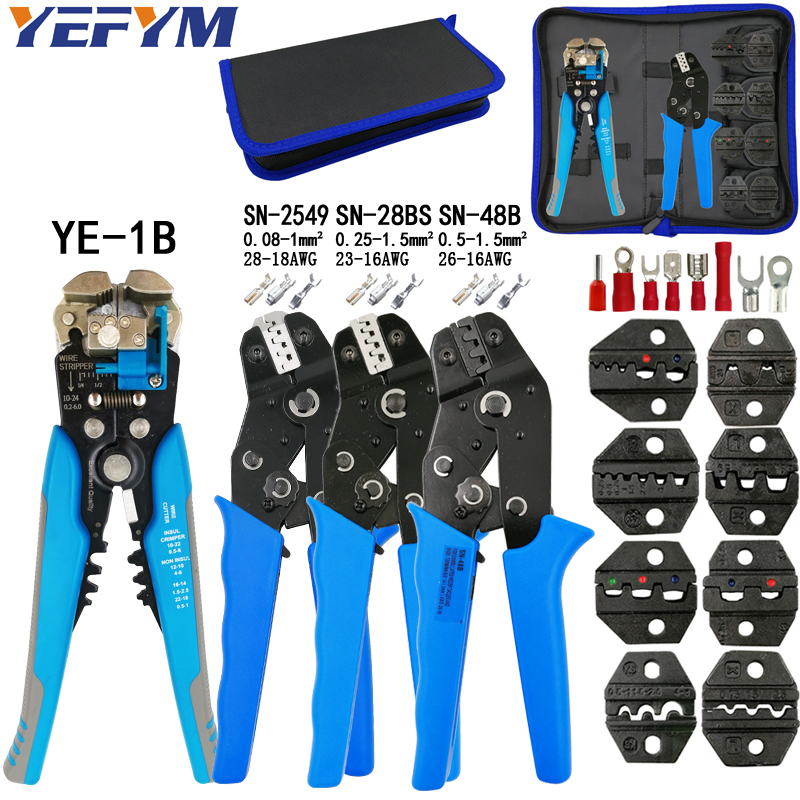 Kit Crimping Plier SN-48B SN-28BS SN-2549 8 Jaw For 2.8 4.8 C3 XH2.54 3.96 2510 Pulg/tube/insuated Terminal Electric Calmp Tools