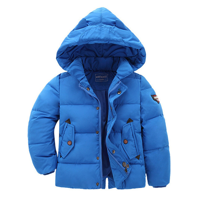 European American Style Baby Womens Winter Down Jacket Solid Color White Duck Down Coat Snowsuit Boys Girls Clothes Hooded Parka