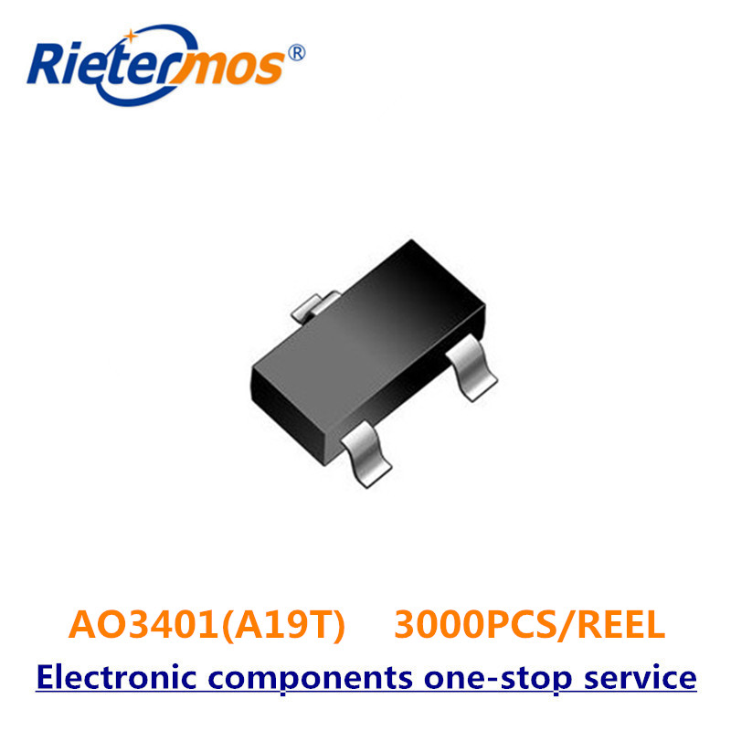 3000PCS AO3401 AO3401A A19T SOT23 P Channel MADE IN CHINA