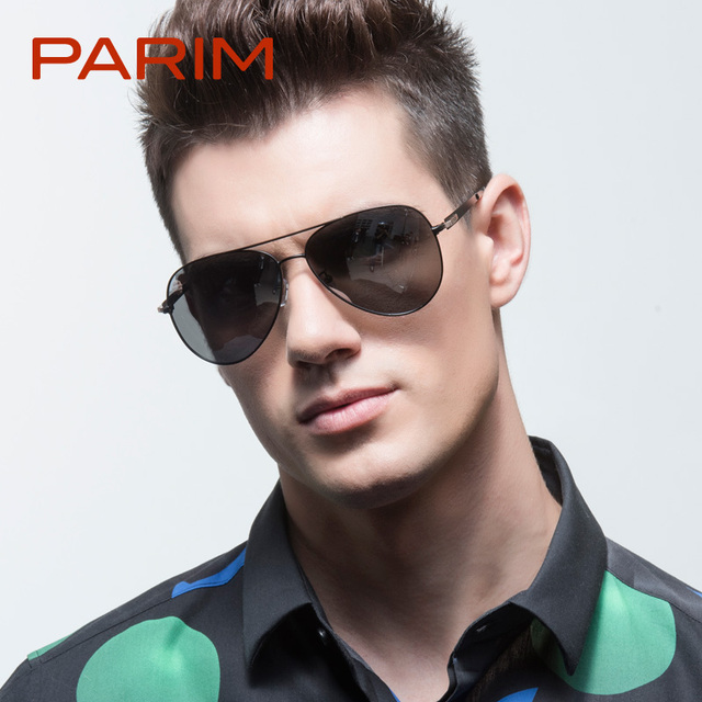 aviator men sunglasses  Parim aviador sunglasses luxury men sunglasses designer brand ...