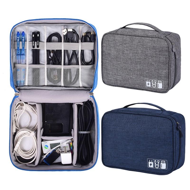 Sac de câble de voyage Portable numérique USB Gadget organisateur chargeur fils kit de pochette de rangement à fermeture à glissière cosmétique accessoires de boîtier fournitures